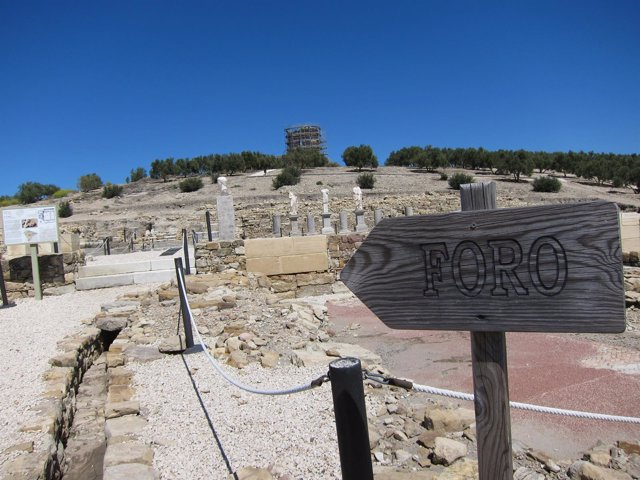 El foro romano de Torreparedones