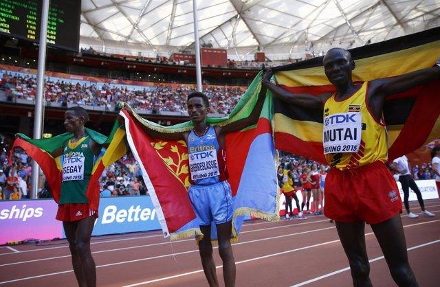 Ghebreslassie, campeón del mundo de maratón en Beijing