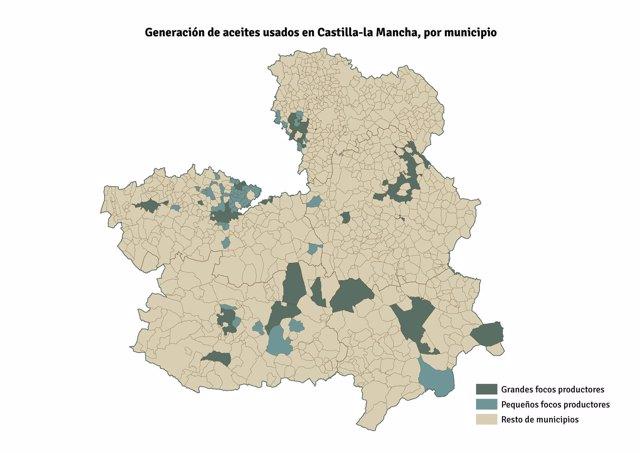 Mapa Aceite usado
