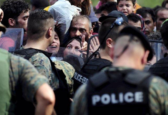 Inmigrantes frontera Macedonia