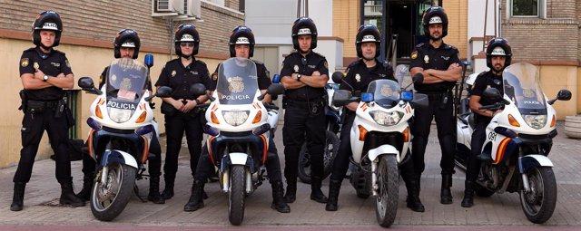 Nuevo subgrupo de motos 'Centellas' de la Policía Nacional en Zaragoza