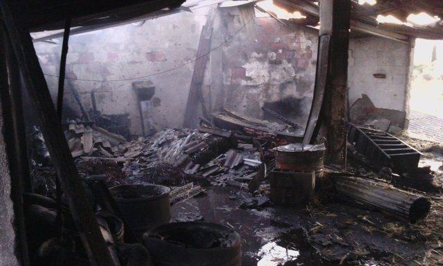 Imágenes del incendio facilitadas por el Consorcio de Extinción de Incendios