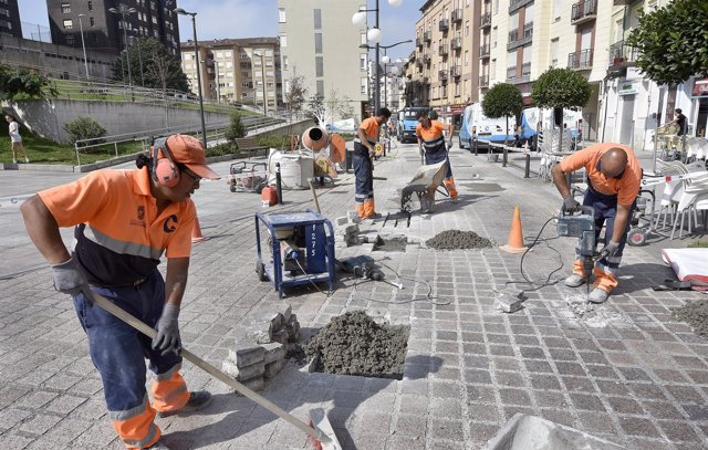 Obras en la calle Tetuán