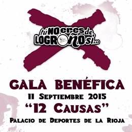 Cartel Gala Solidaria 'Tú no eres de Logroño sí..Û