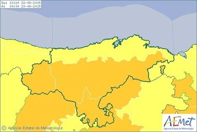 Alerta en Cantabria