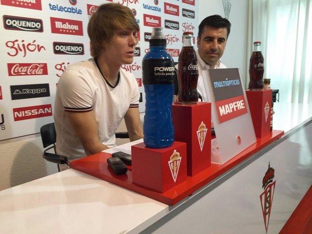 Halilovic en su presentación con el Sporting
