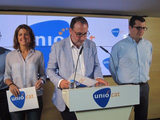 Ramon Espadaler, líder de Unió en rueda de prensa