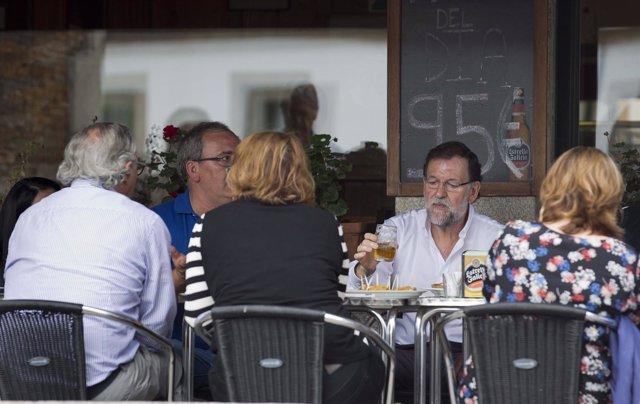 Rajoy en Portomarín (Lugo)