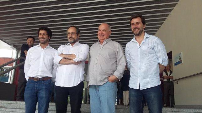 Roger Montañola, Antonio Baños; Lluís Rabell y Toni Comín