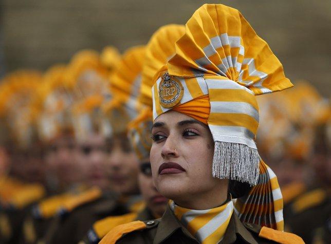 Mujer policía de India