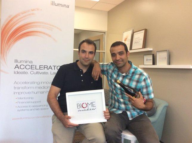 Los fundadores de Biome Makers, Alberto Acedo y Adrián Ferrero