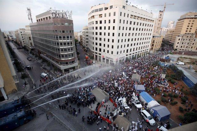 Protestas Beirut agosto 2015