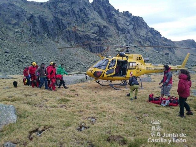 Imagen del rescate en Hoya Moros (Salamanca)