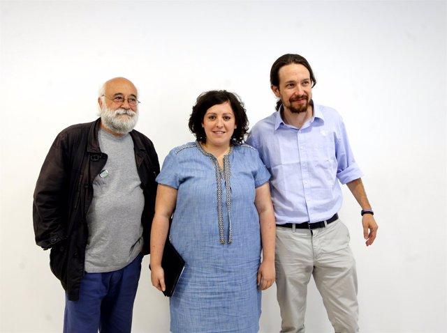 Pablo Iglesias y la eurodiputadad e Podemos Estefanía Torres