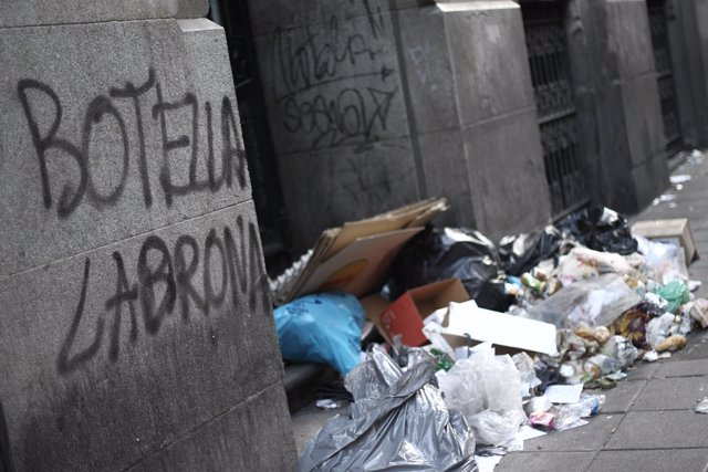 Huelga de limpieza en Madrid - basura