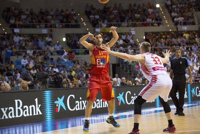 España vs Polonia, Fernando San Emeterio