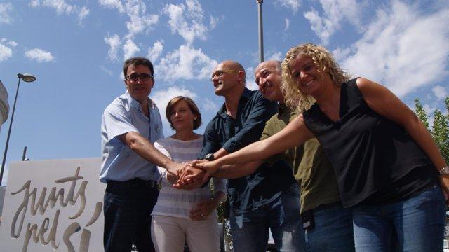 L.Salvadó, C.Forcadell, R.Romeva, G.Bel y M.Roigé, Junts pel sí
