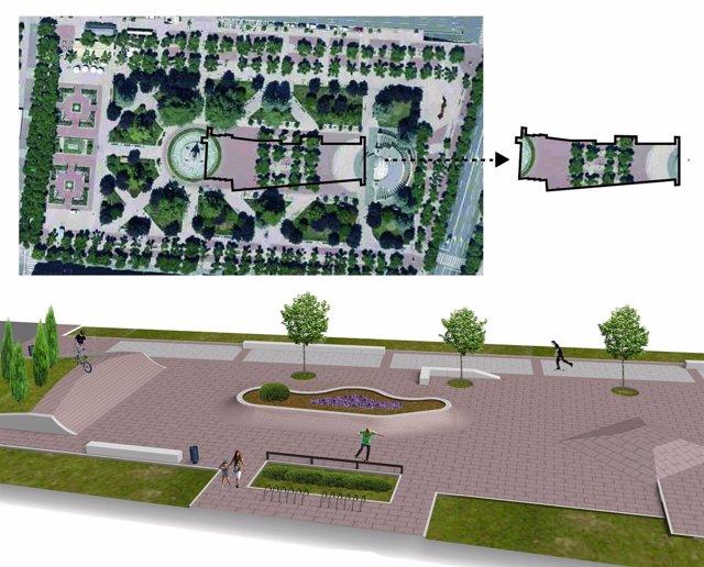 Proyecto skatepark del Ayuntamiento de Logroño