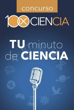 Cartel concurso 100xCiencia de 'Tu minuto de ciencia' 2015