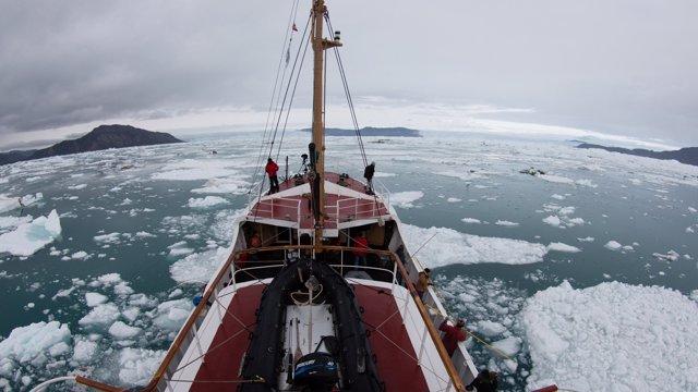 Fiordo en Groenlandia