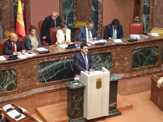 Miguel Sánchez (Ciudadanos) en discurso Debate Investidura en la Asamblea