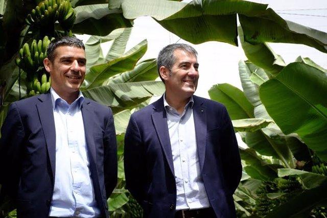 Fernando Clavijo visita la cooperativa agrícola Coagrisan en la Aldea