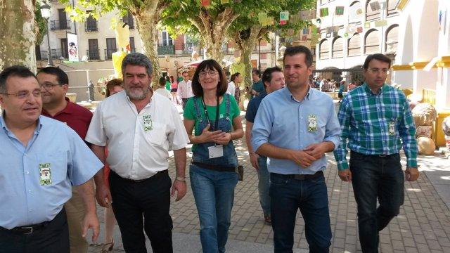 Visita de Luis Tudanca a Salamanca