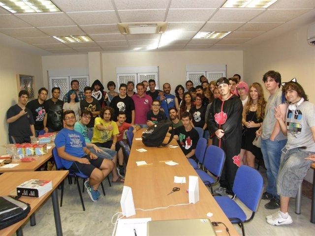 Algunos de los participantes en el V Campeonato de Videojuegos de Jaén.