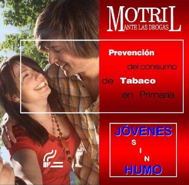 Cartel promocional de la campaña contra el tabaco.