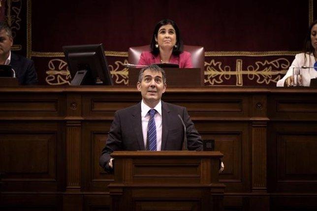 Fernando Clavijo en el debate de investidura