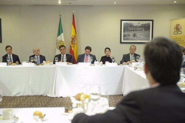 Pedro Sánchez de visita en México