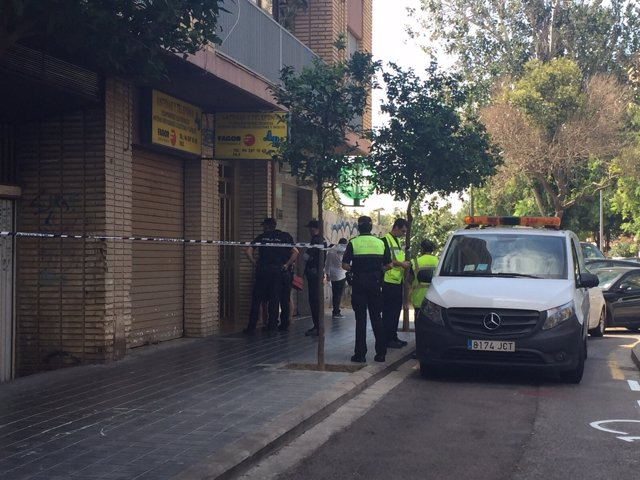Zona acordanada en la Tomás de Villaroya donde han muerto una mujer y una niña