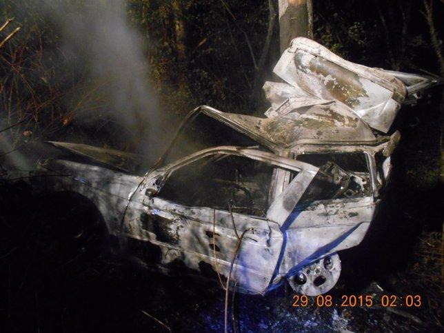 Accidente Val do Dubra (A Coruña) con dos fallecidos