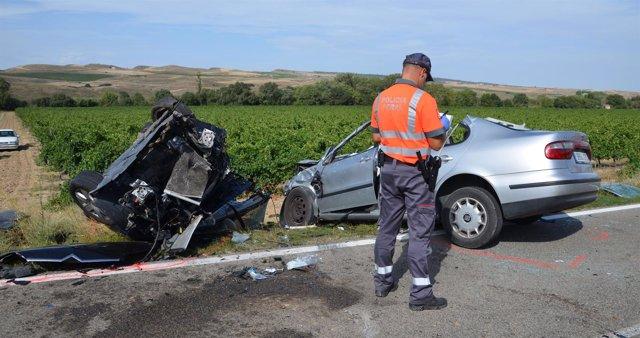 Accidente de tráfico en Falces.