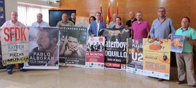 Presentación actuaciones musicales Feria de Murcia