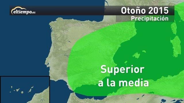 Otoño 2015 en España: más lluvioso y más cálido de lo normal
