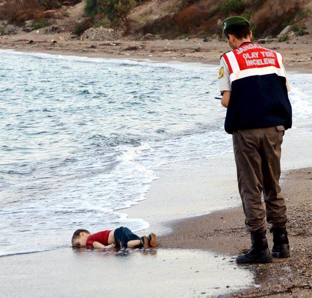 Niño ahogado en las costas de Turquía