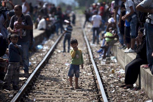 Inmigrantes en Macedonia