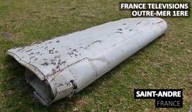 Restos hallados del avión MH370
