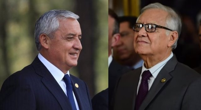 Pérez Molina y su sucesor, Alejandro Maldonado