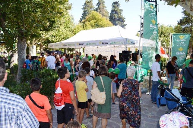 Bicicleta Solidaria de Bantierra y Seguros RGA