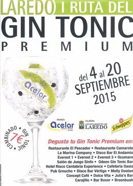 Cartel de la I Ruta del Gin Tonic