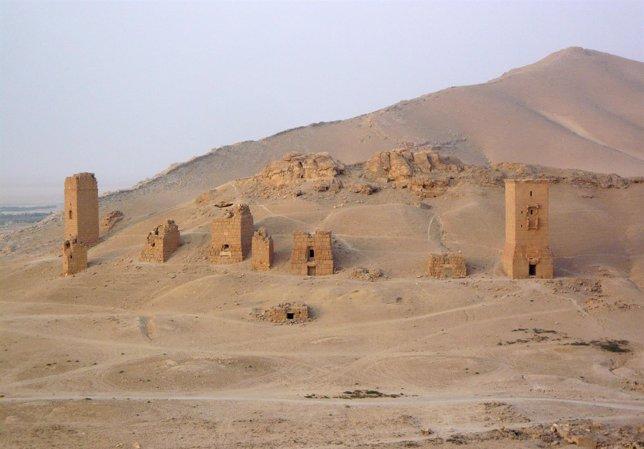 Valle de las Tumbas, en Palmira