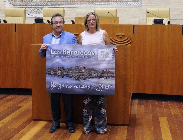 Rafael Pacheco y Blanca Martín apoyan a Los Barruecos