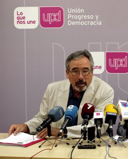 El portavoz de UPyD en la Región de Murcia, José Antonio Sotomayor