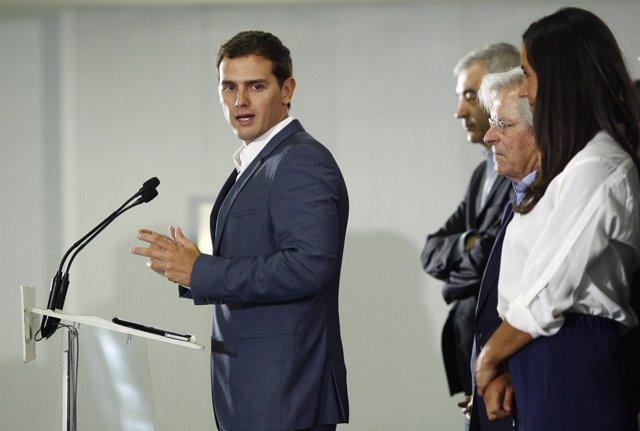 Rueda de prensa de Albert Rivera tras la Ejecutiva Nacional del partido