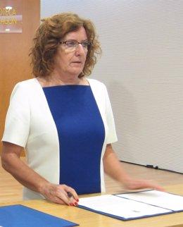María Victoria Broto en un acto este viernes en Zaragoza