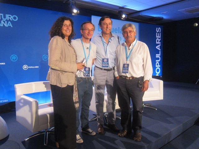 M.Tey, J.M.Lassalle, R.Hernando (PP) y A.Robles