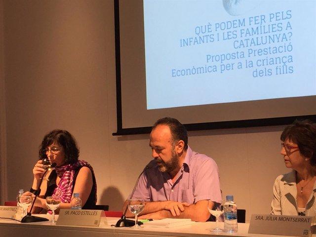C. Martínez; P. Estellés; J. Montserrat, en un acto de Fedaia