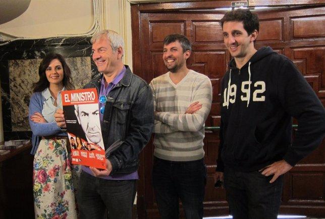 Marta Torné, Carlos Sobera, Javier Antón y Guillermo Ortega en la presentación